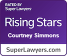 Super Lawyers Rising Star Courtney Simmons logo