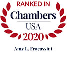 Chambers USA 2020 logo for Amy Fracassini